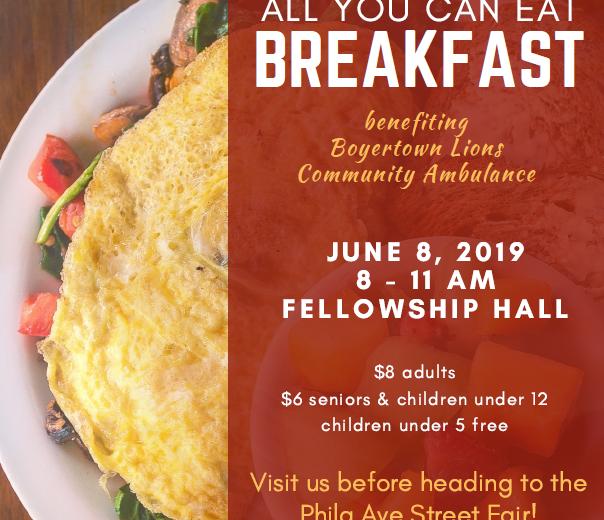 Ambulance Benefit Breakfast_in house